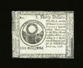 Colonial Notes:Continental Congress Issues, Continental Currency July 22, 1776 $30 Counterfeit Detector New,Damaged. An extremely scarce Blue Detector note, but this o...