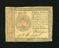 Colonial Notes:Continental Congress Issues, Continental Currency January 14, 1779 $80 Extremely Fine-About New.A very nice example of this highest Continental denomina...