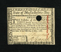 Colonial Notes:Massachusetts, Massachusetts May 5, 1780 $20 Choice New. This is a very niceexample of this highest denomination with a much smaller cance...