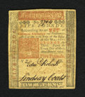 Colonial Notes:Pennsylvania, Pennsylvania April 10, 1775 £5 Extremely Fine-About New. A verywell embossed and lightly circulated example of this popula...