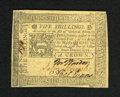Colonial Notes:Pennsylvania, Pennsylvania October 25, 1775 5s Choice About New. A couple ofcorner folds are all that keeps this well signed and well mar...