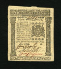 Colonial Notes:Pennsylvania, Pennsylvania December 8, 1775 40s Gem New. This is one of the mostenormously margined examples of any of these columned iss...