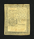 Colonial Notes:Pennsylvania, Pennsylvania April 20, 1781 3d Choice Very Fine. A well marginedand very nicely circulated example of this much scarcer lat...
