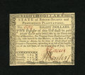 Colonial Notes:Rhode Island, Rhode Island July 2, 1780 $8 Choice New. A crisp and boldly signedexample from this common Rhode Island issue that is as pr...