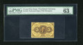 Fractional Currency:First Issue, Fr. 1228 5c First Issue PMG Choice Uncirculated 63 EPQ. A very niceand well perforated example of this type that has rich i...