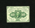 Fractional Currency:First Issue, Fr. 1241 10c First Issue Choice New. A tight left margin and someshort perforations account for the grade on this scarce no...