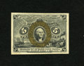 "Fractional Currency:Second Issue, Fr. 1234 5c Second Issue Choice New. Sizeable margins and crisp paper are seen on this scarcer ""S-18-63"" number.. From The..."