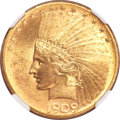Indian Eagles, 1909-S $10 MS63 NGC....