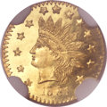California Fractional Gold, 1881 50C Indian Round 50 Cents, BG-1070, R.5, MS66 ProoflikeNGC....