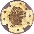 California Fractional Gold, 1871 50C Liberty Round 50 Cents, BG-1011, R.2, MS67 NGC....