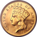 Proof Three Dollar Gold Pieces, 1872 $3 PR64 PCGS....
