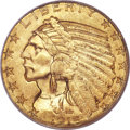 Indian Half Eagles, 1916-S $5 MS64 PCGS....