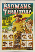 "Movie Posters:Western, Badman's Territory (RKO, 1946). One Sheet (27"" X 41""). Western.. ..."