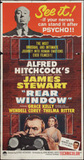 "Movie Posters:Hitchcock, Rear Window (Paramount, R-1962). Three Sheet (41"" X 81"").Hitchcock.. ..."