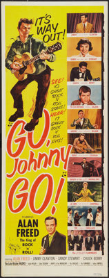 """Go, Johnny, Go! (Hal Roach, 1959). Insert (14"""" X 36""""). Rock and Roll"""