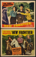 "Movie Posters:Western, New Frontier (Republic, 1939). Title Lobby Card and Lobby Card (11"" X 14""). Western.. ... (Total: 2 Items)"