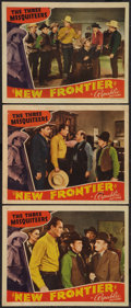 "Movie Posters:Western, New Frontier (Republic, 1939). Lobby Cards (3) (11"" X 14"").Western.. ... (Total: 3 Items)"