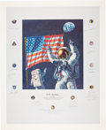 """Autographs:Celebrities, """"In the Beginning..."""" Alan Bean Large Color Limited EditionLithograph Signed by Twenty Apollo Astronauts. ..."""