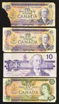 Canadian Currency: , Canadian $10's and a $20.. ... (Total: 4 notes)