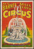 """Movie Posters:Miscellaneous, Circus Poster (Al G. Barnes and Sells-Floto, 1930s). Poster (28"""" X 41""""). Miscellaneous.. ..."""