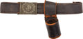 Military & Patriotic:Indian Wars, C. 1880 New York City Police Belt and Buckle....
