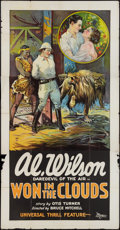 "Movie Posters:Adventure, Won in the Clouds (Universal, 1928). Three Sheet (41"" X 81"").Adventure.. ..."