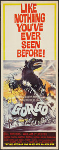 """Movie Posters:Science Fiction, Gorgo (MGM, 1961). Insert (14"""" X 36""""). Science Fiction.. ..."""