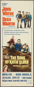 "Movie Posters:Western, The Sons of Katie Elder (Paramount, 1965). Insert (14"" X 36"").Western.. ..."