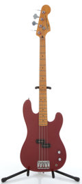 Musical Instruments:Bass Guitars, 1993 Squier II By Fender Precision Red Electric Bass Guitar #S933062....
