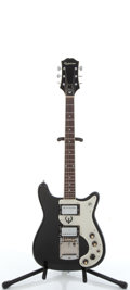 Musical Instruments:Electric Guitars, 1985 Epiphone Wilshire II Black Electric Solid Body Guitar,#N/A....
