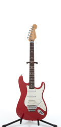 Musical Instruments:Electric Guitars, 1996 Fender Richie Sambora Stratocaster Red Electric Guitar,#MSN503971....