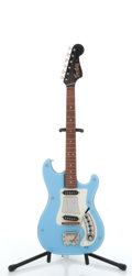 Musical Instruments:Electric Guitars, Vintage Hagstrom Sky Blue Electric Guitar # 6501000....