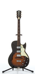 Musical Instruments:Electric Guitars, Vintage Kay Old Kraftsman Sunburst Semi-Hollow Body Electric Guitar#N/A....