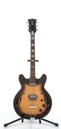 Musical Instruments:Electric Guitars, Vintage Vox Sunburst Thin Arched Electric Guitar #N/A....