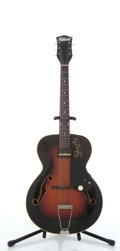 Musical Instruments:Electric Guitars, Vintage National 1125 Shorty Sunburst Archtop Electric Guitar#X20585....