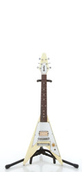 Musical Instruments:Electric Guitars, Bradley Flying V 3/4 White Electric Guitar #N/A....