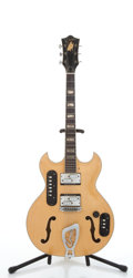 Musical Instruments:Electric Guitars, Goya Maple Archtop Semi-Hollow Body Electric Guitar #N4128....
