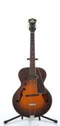 Musical Instruments:Electric Guitars, Vintage Gibson Recording King A104 Roy Smeck Sunburst Archtop Electric Guitar # N/A....