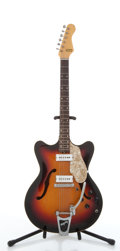 Musical Instruments:Electric Guitars, Carvin Sunburst Archtop Semi-Hollow Body Electric Guitar #N/A....