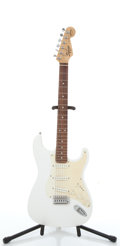 Musical Instruments:Electric Guitars, Squier By Fender Stratocaster Bullet White Electric Guitar#NC419403....