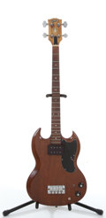 Musical Instruments:Bass Guitars, Vintage Gibson Cherry 4-String Project Electric Bass Guitar # N/A....
