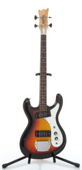 Musical Instruments:Bass Guitars, Univox Sunburst Electric Bass Guitar #0175580....