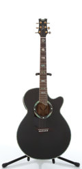 Musical Instruments:Acoustic Guitars, 1991 Dean Preformer DSE CBK Black Electric Acoustic Guitar#91102852....