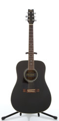 Musical Instruments:Acoustic Guitars, 1995 Washburn D-10B Black Acoustic Guitar #9508345....