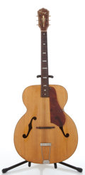 Musical Instruments:Acoustic Guitars, Vintage Kay Jumbo Natural Archtop Acoustic Guitar #N/A. ...