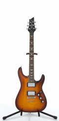 Musical Instruments:Electric Guitars, Schecter C-1+ Sunburst Solid Body Archtop Electric Guitar#01113875....
