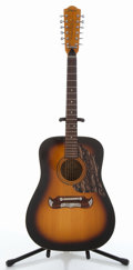 Musical Instruments:Acoustic Guitars, Vintage Framus Texan 5/296 Sunburst 12-String Acoustic Guitar#1401....