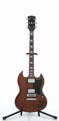 Musical Instruments:Electric Guitars, Vintage Gibson SG Walnut Electric Guitar #N/A....