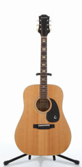 Musical Instruments:Acoustic Guitars, Epiphone FT-45 Texan Natural Acoustic Guitar #470587....