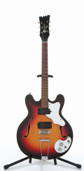 Musical Instruments:Electric Guitars, Vintage Mosrite Celebrity #3 Sunburst Semi-Hollow Body ElectricGuitar, #K-0213....